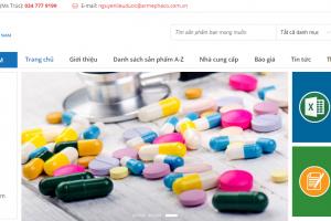 Dự án sàn giao dịch nguyên liệu dược phẩm Việt Nam